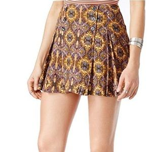 Free People Lovers Lane Printed Mini Skirt Size 8